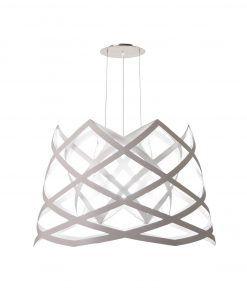 Lámpara de techo 88 cm diámetro RUT blanca