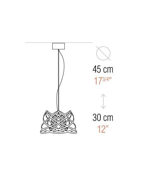 Medidas lámpara de techo 45 cm diámetro RUT