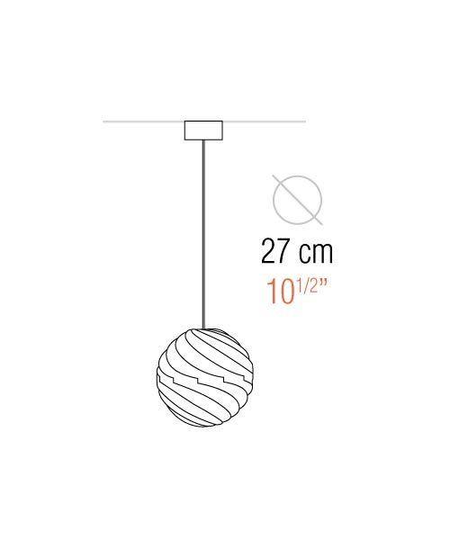 Medidas lámpara de techo 27 cm diámetro TWISTER