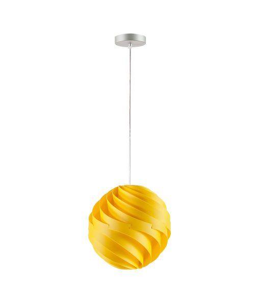 Lámpara de techo 27 cm diámetro TWISTER amarilla