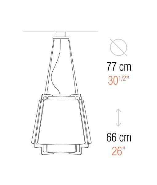 Medidas lámpara de techo 77 cm diámetro ZONA