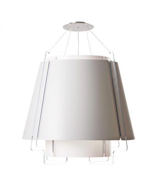 Lámpara de techo 77 cm diámetro ZONA blanca