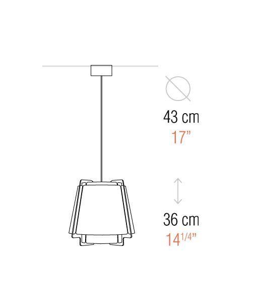 Medidas lámpara de techo 43 cm diámetro ZONA