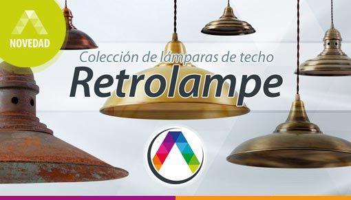 ¡Novedad! Lámparas de techo retro/vintage de Retrolampe en La Casa de la Lámpara