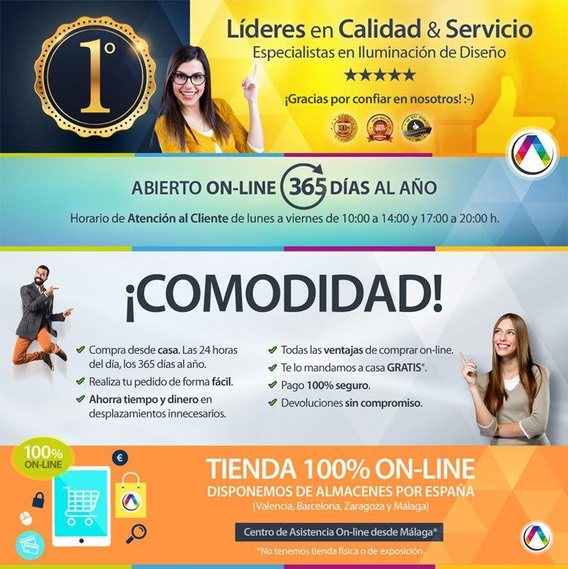 Tu tienda de lámparas líder 100% online La Casa de la Lámpara