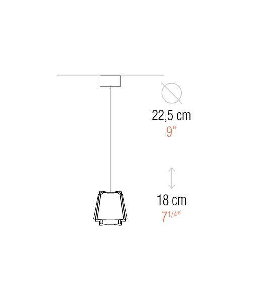 Medidas lámpara de techo 22 cm diámetro ZONA