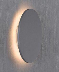 Aplique circular plata BORA BORA LED detalle