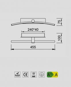 Aplique cromo LED 8W JERI