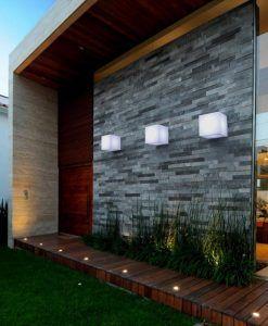 Aplique exterior CUBY WALL ambiente