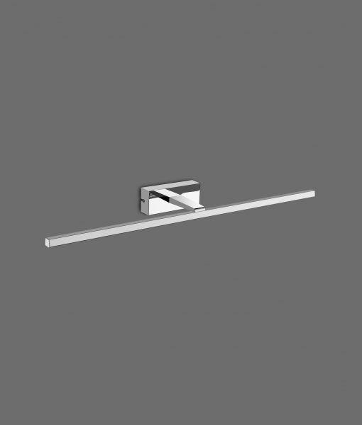 Lámpara aplique baño LED cromo 12W luz cálida YAQUE