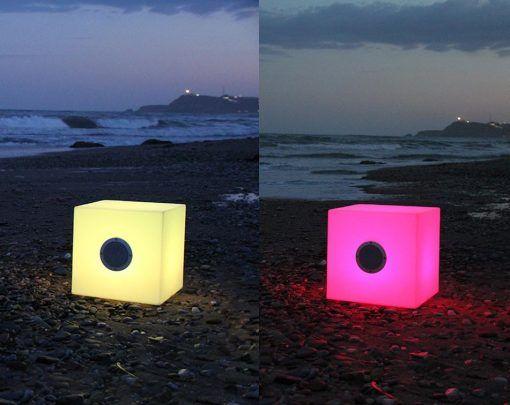 Lámpara cajón con luz y altavoces CUBY PLAY ambiente 5