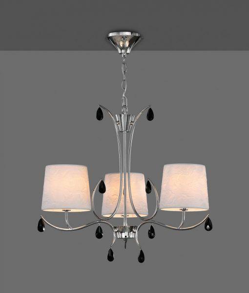 Lámpara colgante 3 luces cromo ANDREA detalle