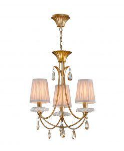 Lámpara colgante 3 luces dorado SOPHIE