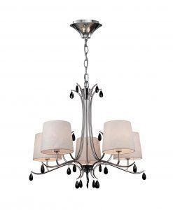 Lámpara colgante 5 luces cromo ANDREA
