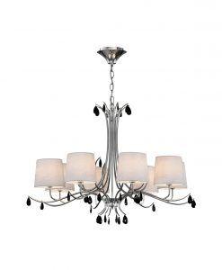 Lámpara colgante 8 luces cromo ANDREA