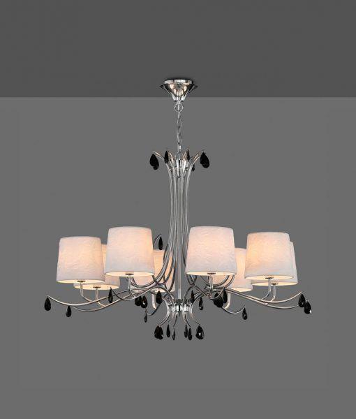 Lámpara colgante 8 luces cromo ANDREA detalle