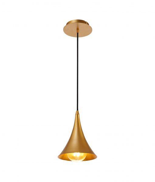 Lámpara colgante pintado oro mate JAZZ