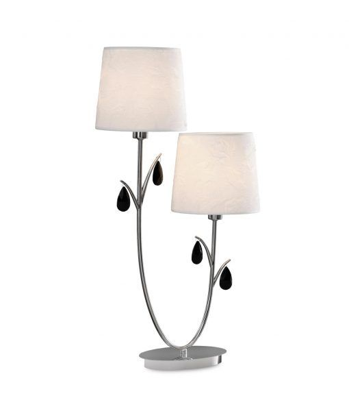 Lámpara de mesa 2 luces cromo ANDREA
