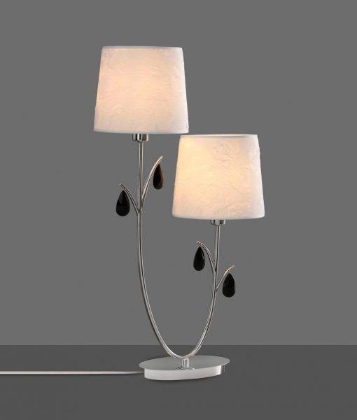 Lámpara de mesa 2 luces cromo ANDREA detalle