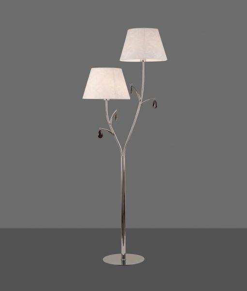 Lámpara de pie 2 luces cromo ANDREA detalle