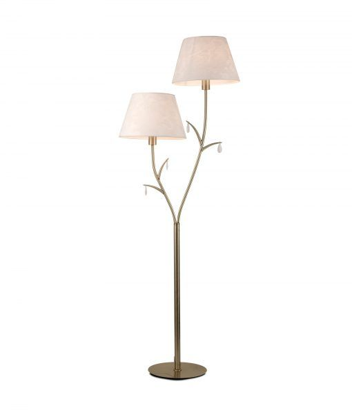 Lámpara de pie 2 luces cuero satinado ANDREA
