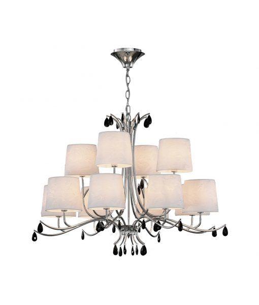 Lámpara de techo 12 luces cromo ANDREA