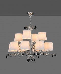 Lámpara de techo 12 luces cromo ANDREA detalle