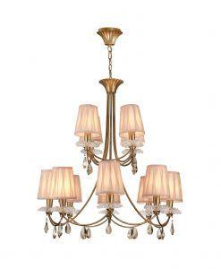 Lámpara de techo 12 luces dorado SOPHIE