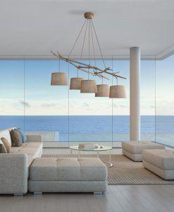 Lámpara de techo 5 luces SABINA ambiente
