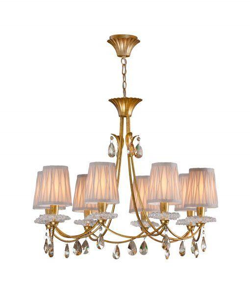 Lámpara de techo 8 luces dorado SOPHIE