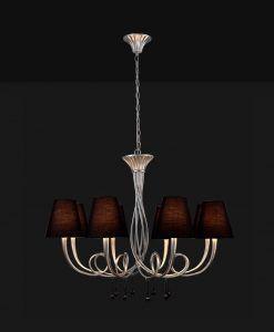 Lámpara de techo 8 luces plata PAOLA detalle
