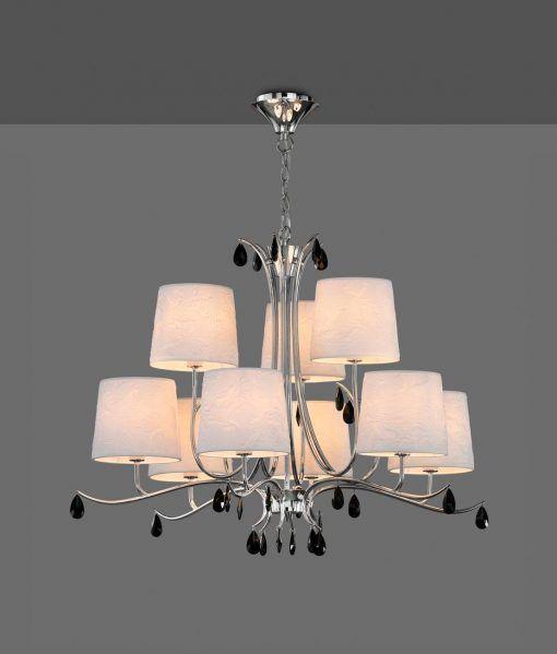 Lámpara de techo 9 luces cromo ANDREA detalle