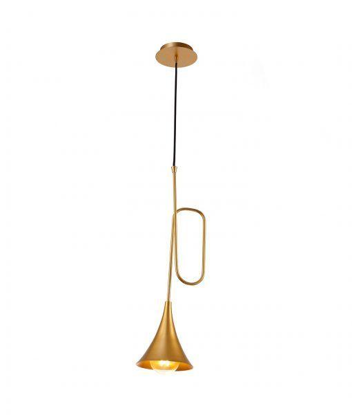 Lámpara de techo pintado oro mate JAZZ