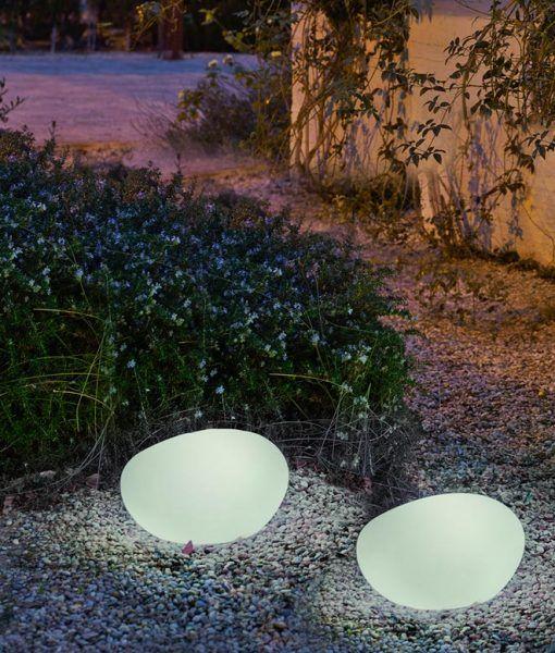 Lámpara decorativa 40 cm exterior PETRA