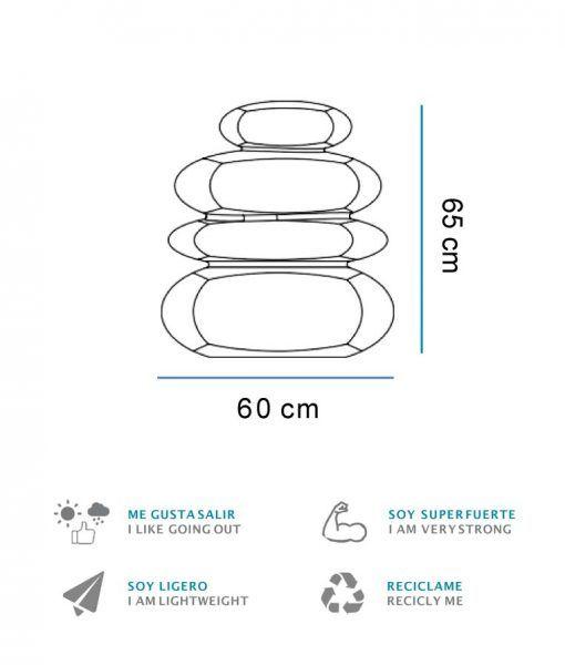 Medidas lámpara decorativa interior y exterior Balans