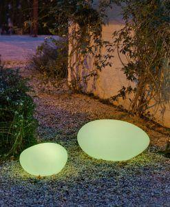 Lámpara decorativa 60 cm exterior PETRA