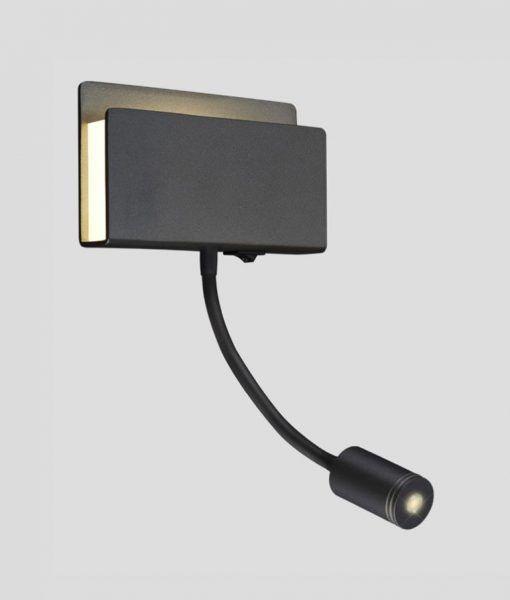 Lámpara dormitorio LED negro mate CABARETE