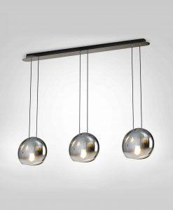 Lámpara de techo lineal 3 luces cromo LENS