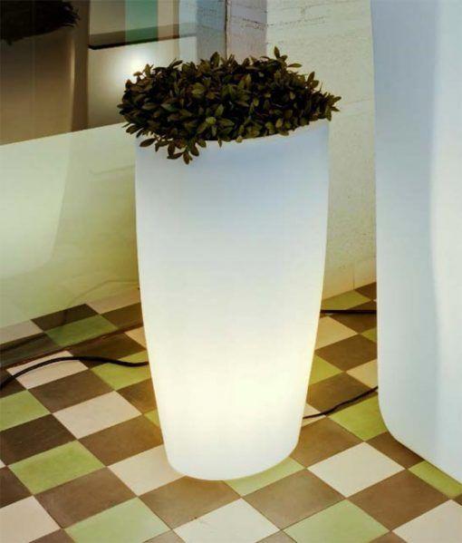 Lámpara macetero cilíndrico 70 cm altura BAMBU