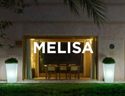 Lámpara macetero luz LED 110 cm altura MELISA ambiente