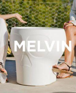 Lámpara mesa con luz MELVIN