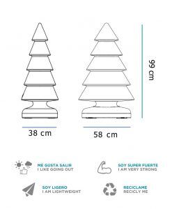 Medidas lámpara navideña 100 cm SNOWY