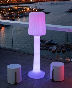 Lámpara pie de 110 cm altura CARMEN ambiente