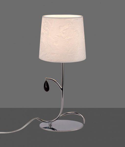 Lámpara sobremesa cromo ANDREA detalle
