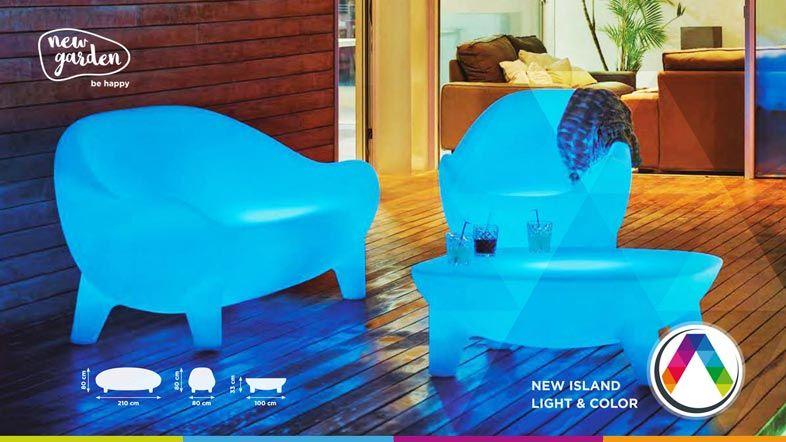 Muebles con luz LED - Lámparas Newgarden be happy en La Casa de la Lámpara