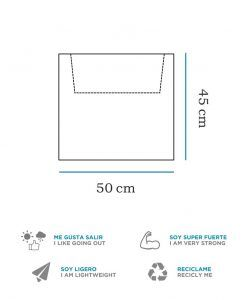 Medidas macetero cuadrado con luz 45 cm altura NARCISO