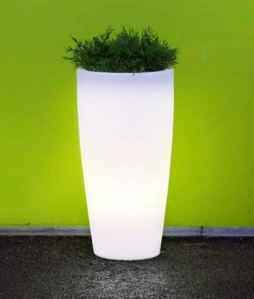 Macetero lámpara cilíndrico 90 cm altura BAMBU