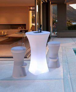 Mesa alta con luz para fiestas o cócteles BAHAMA