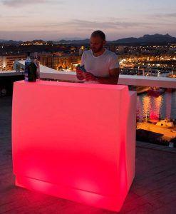 Mostrador recepción con luz 120 cm de ancho SICILIA