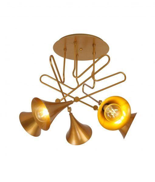 Semipalfón 5 luces pintado oro mate JAZZ